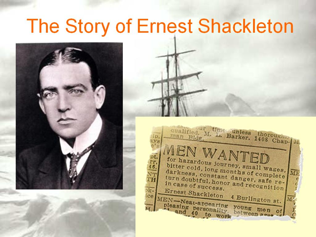 critical evaluation of ernest shackleton Leadership case study of ernest shackleton - the topic of this leadership case study is ernest shackleton this paper will identify the development of shackleton's leadership skills, provide examples and reflections of his abilities, and relate how he played an essential role in one of history's greatest survival stories.