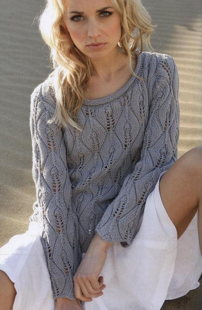 Красивый Вязаный Пуловер