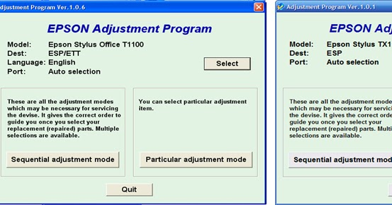 Download Software Resetter Epson TX121, T13, T1100
