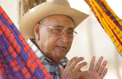 Angel Amaya, el palabrero wayuu que calma los conflictos.