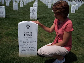 Kelly Hooker at Arlington Cemetary with Sgt. Adam Cann(5/08)