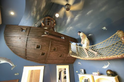 Cool Adult Beds calvin's canadian cave of coolness: suspended pirate ship bed
