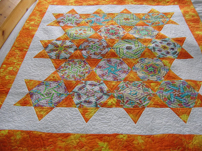 Primitive Wool Applique Kit Star Flowers by Karyn Lord Plus Wool