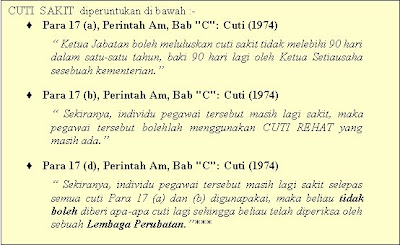 When Ca18761 Talk About Government References Perintah Perintah Am General Orders Perintah Am Bab C Cuti 1974