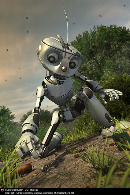 r2 30 Awesome 3D Robots Illustrations
