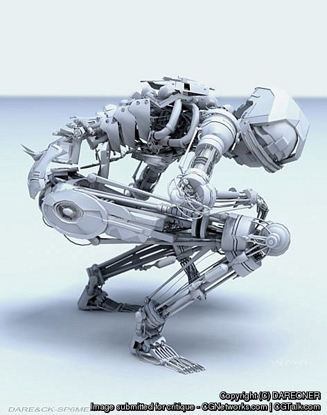 zazie mentalr medium 30 Awesome 3D Robots Illustrations
