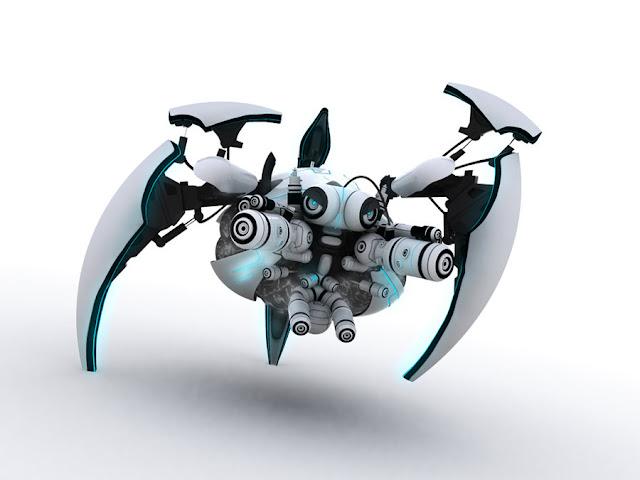 Jake   Interface robot tripod by JK Studios 30 Awesome 3D Robots Illustrations