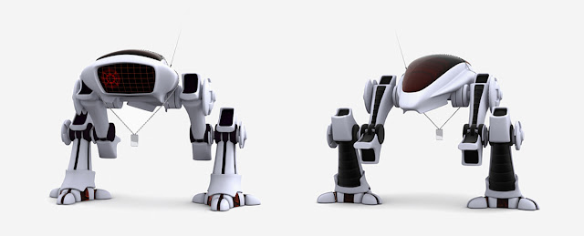 fm BIG 30 Awesome 3D Robots Illustrations
