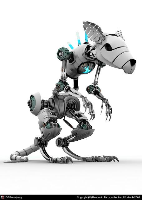 rat 30 Awesome 3D Robots Illustrations