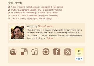 Excellent Examples Of Blog Post Footer Designs