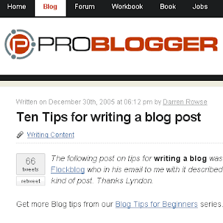 Ten Tips for writing a blog post
