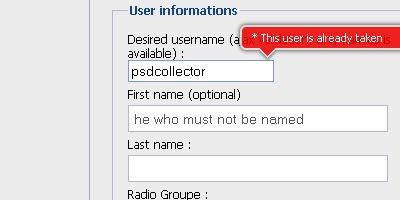 A jQuery inline form validation