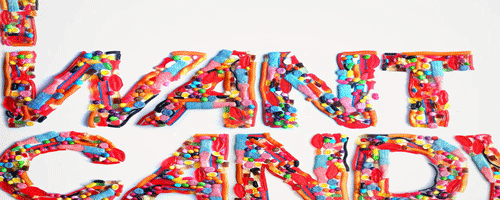 Experimental Typography Candy
