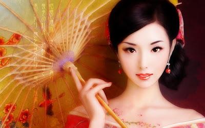 Kimono Beauty wallpaper