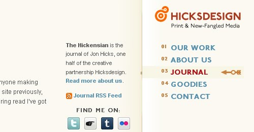 The Hickensian web design