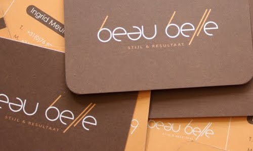 Beau Belle Business card design