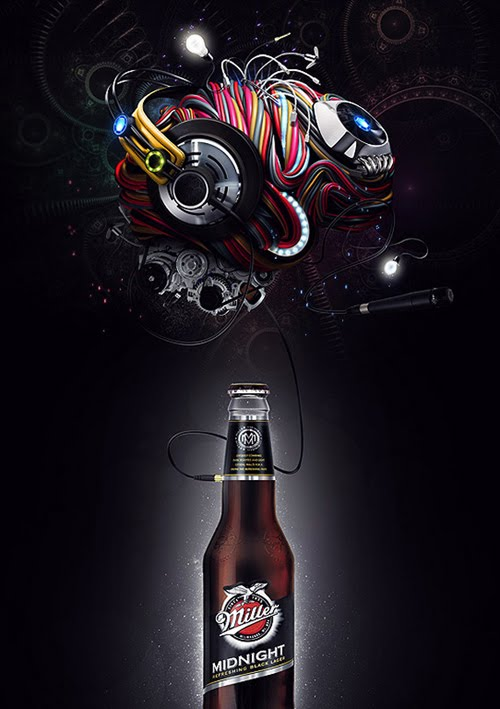 Beer inspired photo manipulation and ads to quench your thirst