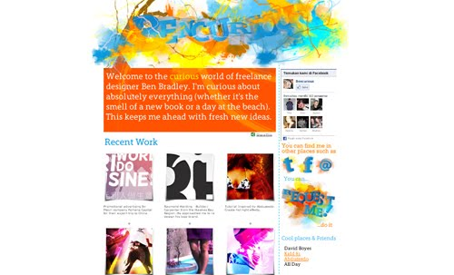 Bencurious web design