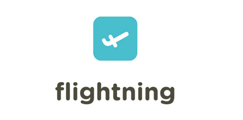 Flightning logo design