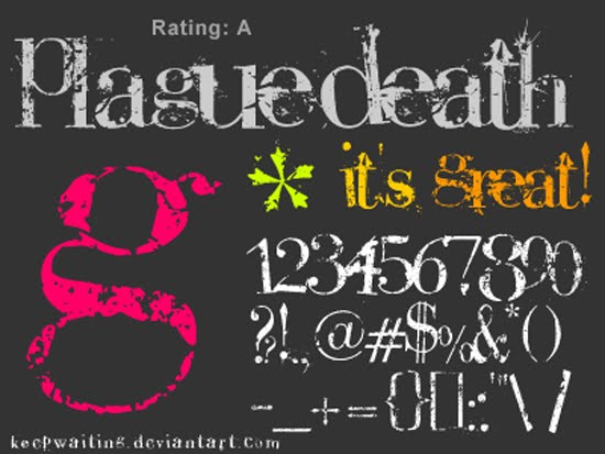PlagueDeath free font