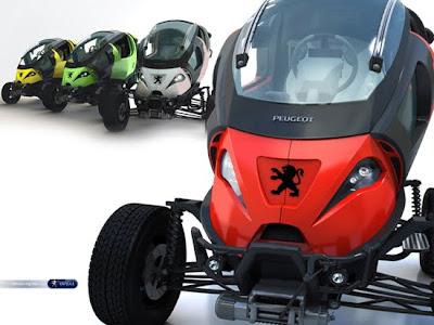 Peugeot Capsule 3d concept car