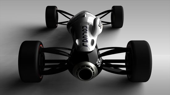 jet car 3d concept car design 2