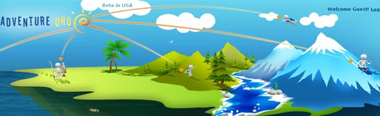 AdventureDrop web design