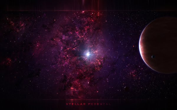 Stellar Pedestal space art