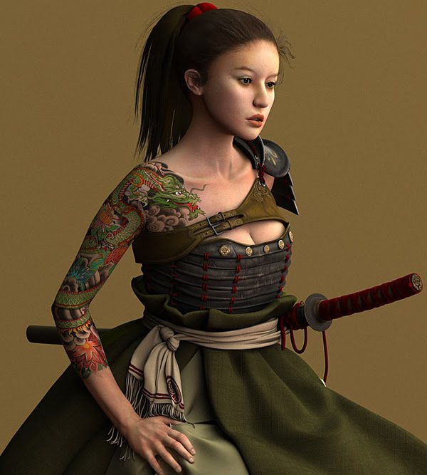 samurai female Character
