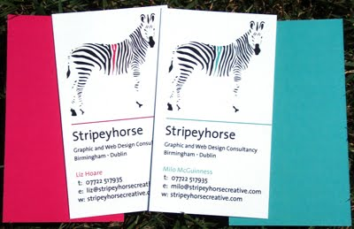Stripeyhorse Business Cards