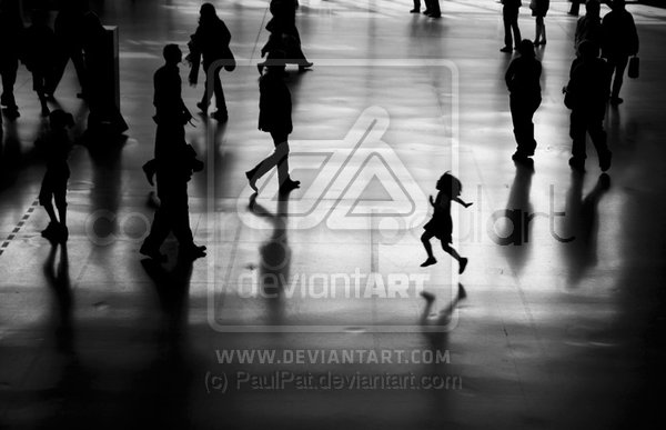 Girl in gallery photography