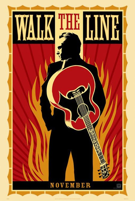 Walk the Line retro movie poster