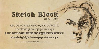 Sketch Block fonts