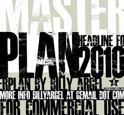 master plan font