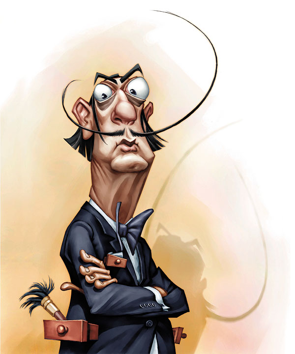 Salvador DALI Caricature