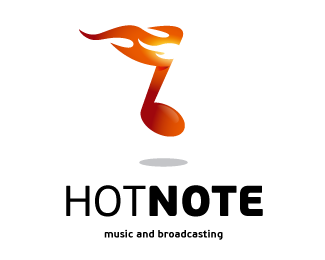 Hot Note Logo Design