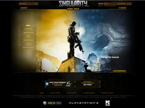 Singularity Flash Website