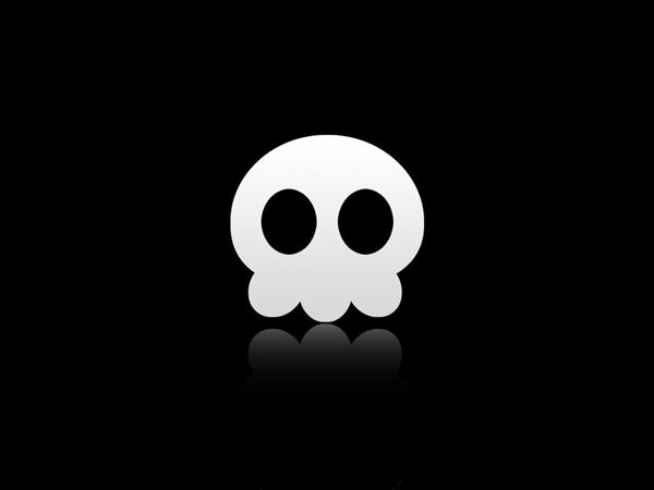 Skull black and white Wallpaper