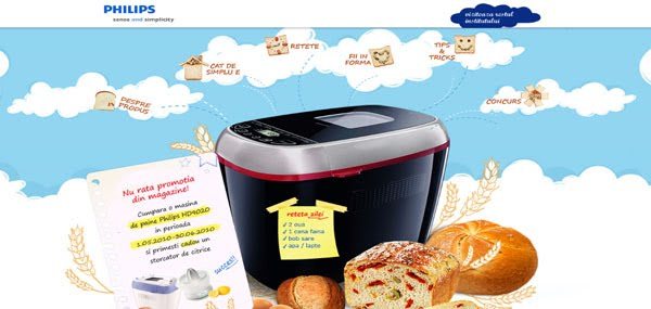 Bread machine Web Design