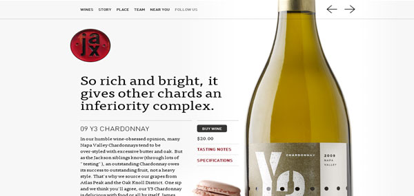 Jax Vineyards Web Design