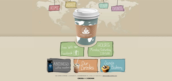 C&amp;C COFFEE Web Design