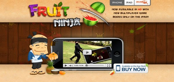 Fruit Ninja Web Design