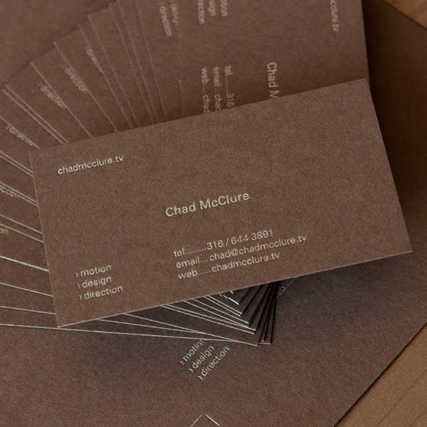 Understated Cards for a Motion Graphics artist