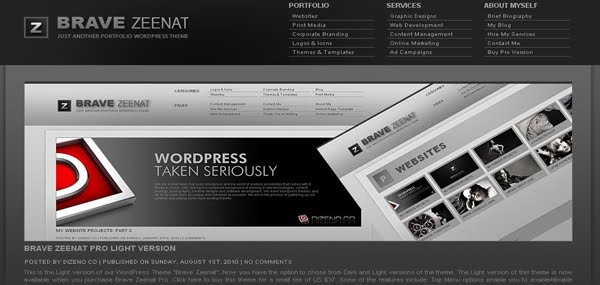 Brave Zeenat Free Portfolio Wordpress Theme