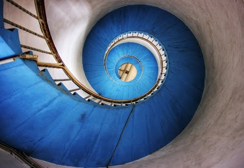 Blue Stairs by Marta Leth Kaack