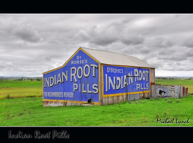 Indian Root Pills signs