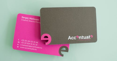 Accentuates Business Cards