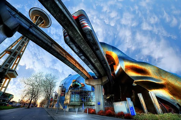 Seattle Center Sci-Fi Perspective