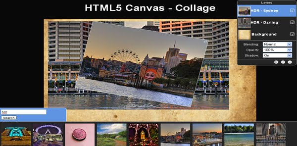 HTML5 Canvas - Collage