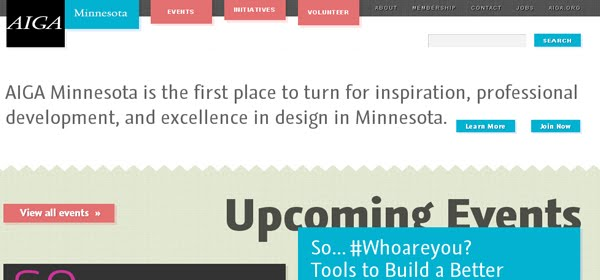 AIGA Minnesota Web Design